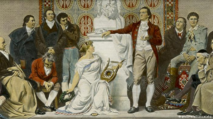 Painting of Goethe in Weimar by Otto Knille (picture-alliance/akg)