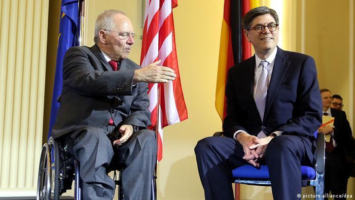 Министры финансов ФРГ и США Вольфганг Шойбле и Джейкоб Лью