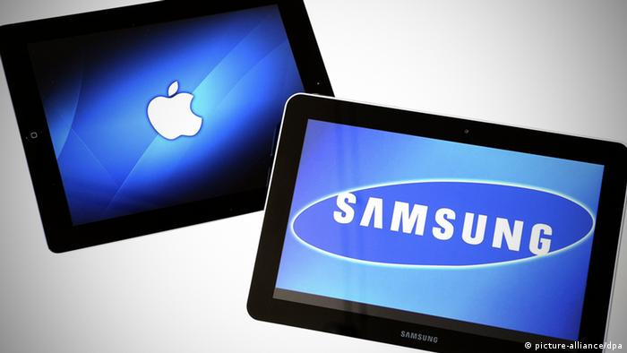 Apple, Samsung tablets side by side