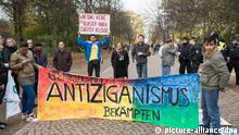 Antiziganismus Demonstration Banner Plakat Kundgebung Berlin