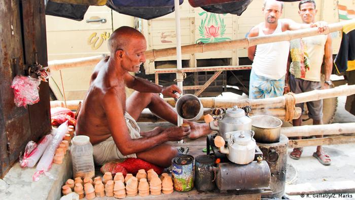 Shivnat Rai Jadav, a chai tea seller in Kolkata's Bara Bazaar.