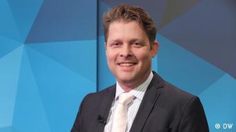 Islamwissenschaftler Guido Steinberg bei einer Aufzeichnung der DW-Sendung Quadriga. Foto: DW
