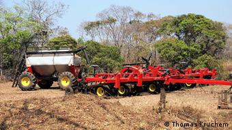 Modern agricultural machinery in Zambia