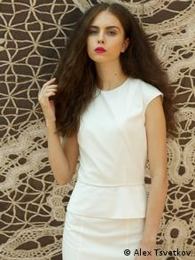 A white dress from Adriana Stetsyuk's collection called Is it time to rethink Photo: Alex Tsvetkov