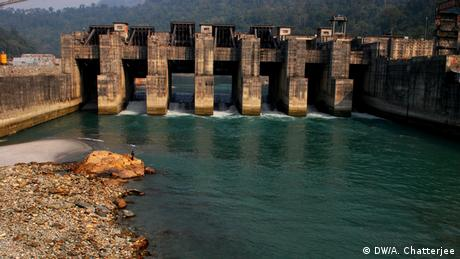 Staudamm Fluß Teesta Indien (DW/A. Chatterjee)