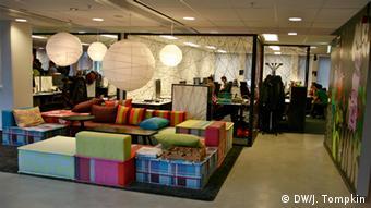 Der Büroraum im Hauptsitz von Spotify in Stockholm, Foto: DW/J. Tompkin