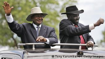 Südsudans Präsident Kiir und Ugandas Präsident Museveni