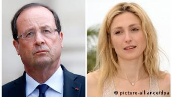 Hollande (left) and Gayet (right) (photo: picture alliance/dpa)