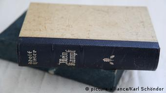 Old book cover of Hitler's book Mein Kampf
