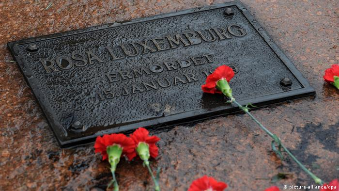 Linke mit Stillem Gedenken an Rosa Luxemburg und Karl Liebknecht 12.1.2014 (picture-alliance/dpa)