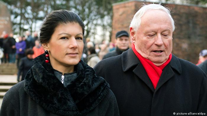 Sahra Wagenknecht and Oskar Lafontaine
