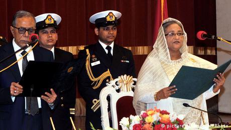Sheikh Hasina erneut als Regierungschefin in Bangladesch vereidigt (picture-alliance/AP Photo)