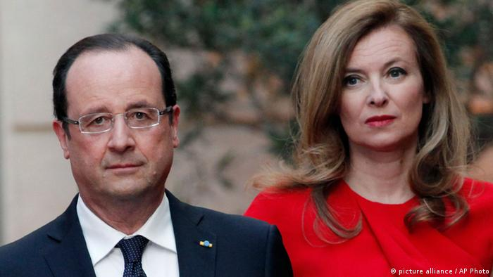Francois Hollande and Valerie Trierweiler, pictured in May 2013. (Photo via AP Photo/Thibault Camus)