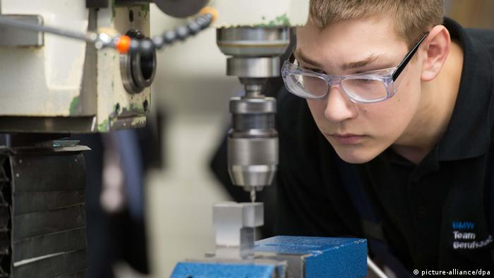 An apprentice at BMW