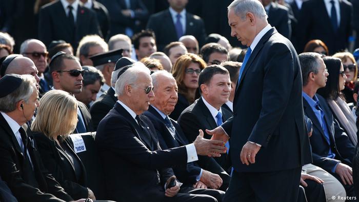 Ariel Sharon Trauerfeier Beisetzung Benjamin Netanyahu Joe Biden