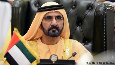 Deutschland Dubai VAE Premierminister Mohammed bin Rashid Al Maktoum (picture-alliance/dpa)