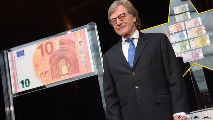ECB's Yves Mersch presents new 10-euro bank note