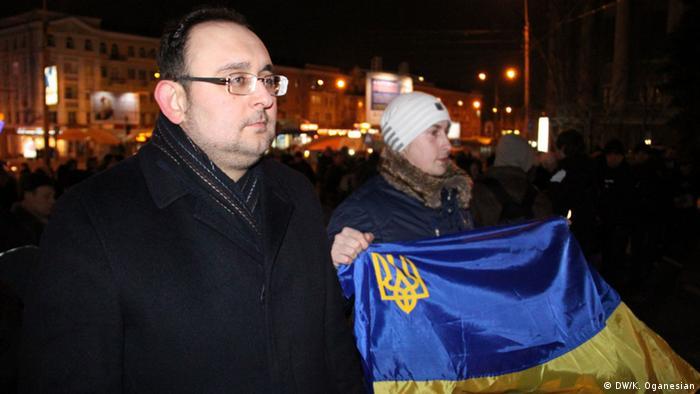 Станіслав Федорчук (л) на донецькому Євромайдані