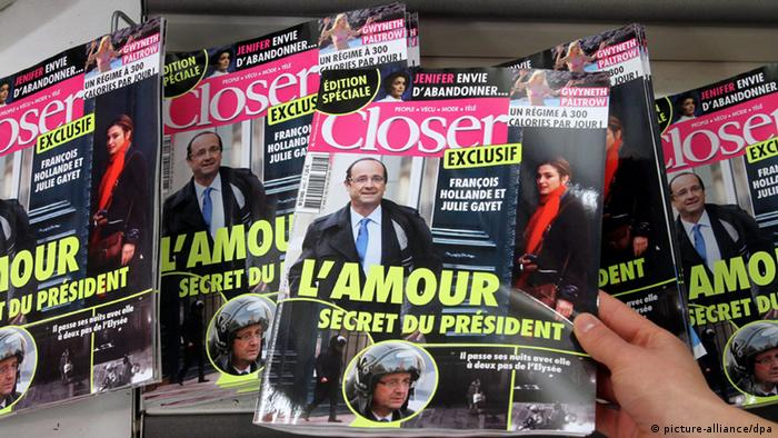 Closer newspapers showing Hollande (photo: picture alliance/dpa)