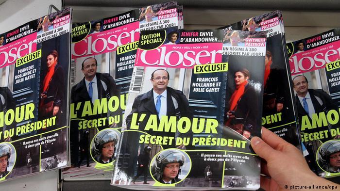 Magazin Closer, abfotografiert, Titelseite mit Hollande (Foto: DPA)