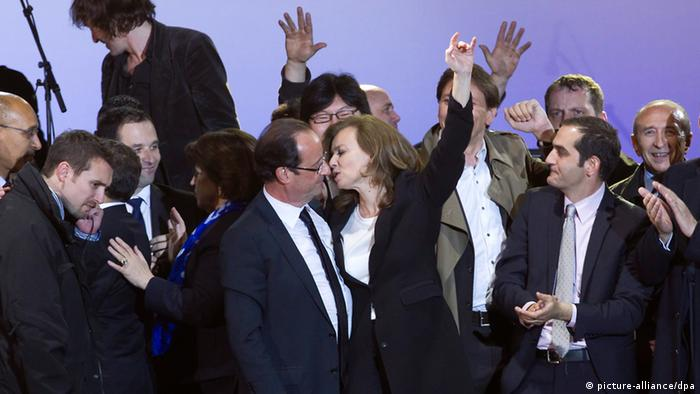 Francois Hollande and Valerie Trierweiler (photo: picture alliance/dpa)