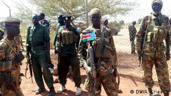 South Sudan soldiers after capture of Bentiu