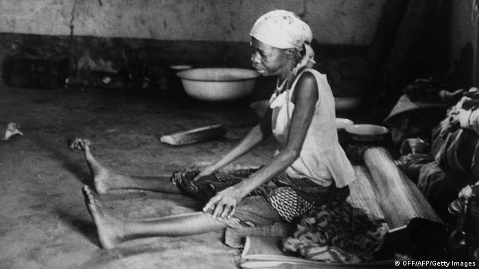 A woman refugee during the Biafra war