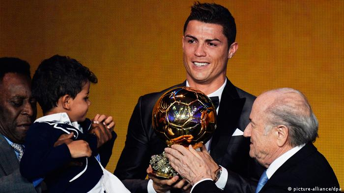 Preisverleihung Weltfußballer 2013 Cristiano Ronaldo