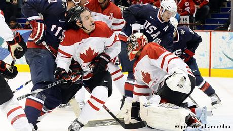 USA-Canada hockey match