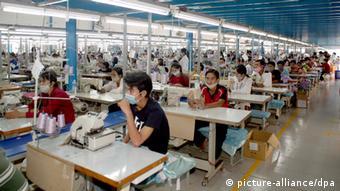 Kambodscha Textilfabrik Phnom Penh