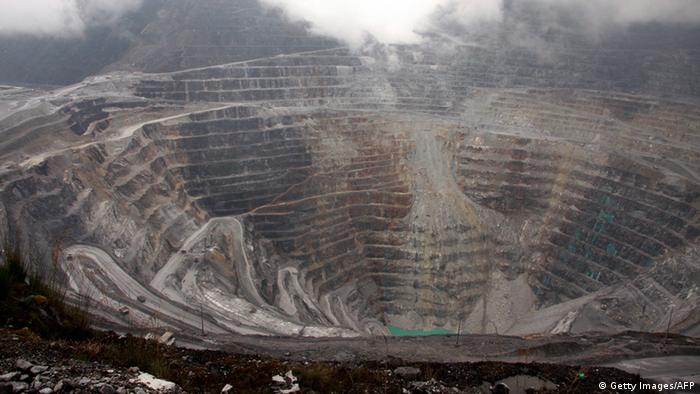 A general view of the Freeport McMoRan's Grasberg mining complex, one of the world's biggest gold and copper mines located in Indonesia's remote eastern Papua province. (Photo: AFP/Getty Images)