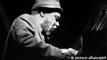 **FILE** Jazz pianist Thelonious Monk performs at the Newport Jazz Festival in Newport, R.I., in this July 5, 1963, file photo. (AP Photo/FILE)