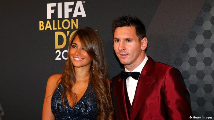 Fußballspieler Lionel Messi FIFA Ballon d'Or Gala 2013 (Getty Images)