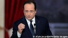 Frankreich Pressekonferenz Hollande 14.1.2014