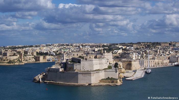 Pogled na utvrdu u Valletti, Malta