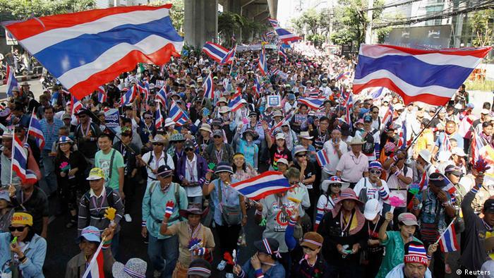 Antiregierungsproteste in Thailand 15.01.2014