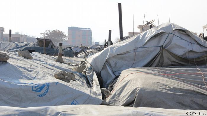 Binnenflüchtlinge in Kabul Afghanistan