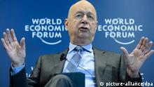 epa04022170 German Klaus Schwab, founder and president of the World Economic Forum, WEF, gestures during a press conference, in Cologny near Geneva, Switzerland, Wednesday, January 15, 2014. The World Economic Forum 15 January unveiled the programme for its Annual Meeting in Davos, Switzerland, including the key participants, themes and goals. The overarching theme of the Meeting, which will take place from 22 to 25 January, is 'The Reshaping of the World: Consequences for Society, Politics and Business'. EPA/LAURENT GILLIERON +++(c) dpa - Bildfunk+++