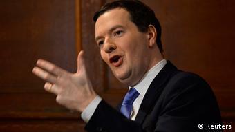 Großbritannien Finanzminister George Osborne