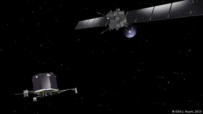 Illustration of Rosetta and Philae Copyright ESA–J. Huart, 2013
