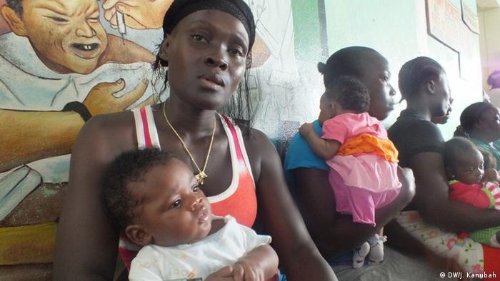 Liberia Catherine Browne mit Baby