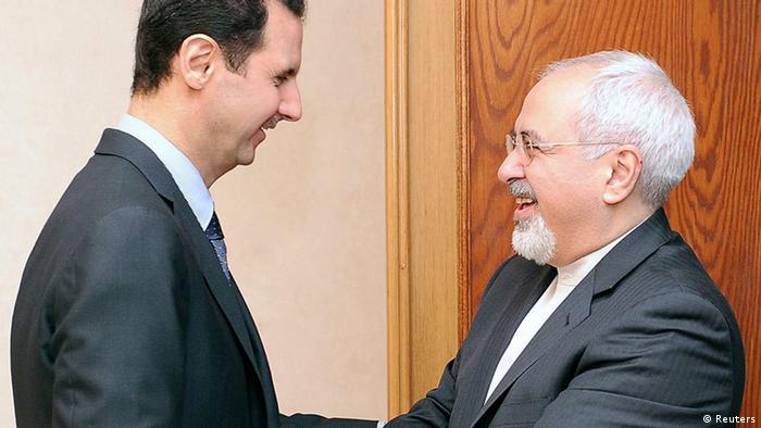 ایران مهمترین پشتیبان منطقهای رژیم بشار اسد است. محمدجواد ظریف در دیدار با بشار اسد