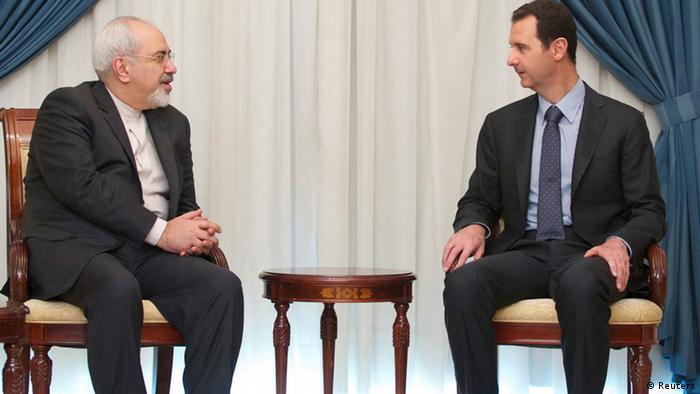 Treffen Syrien Iran Assad und Zarif NEU
