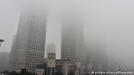 Smog China Peking Stadt Symbolbild Umweltverschmutzung Luftverschmutzung Asien