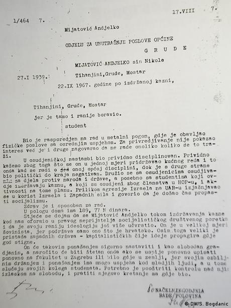 Otpusno pismo Anđelka Mijatovića