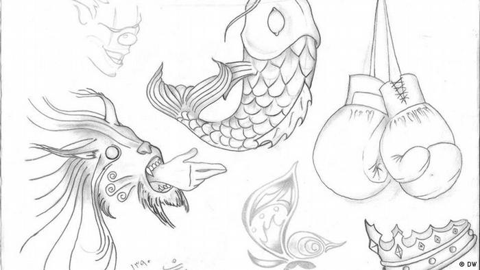 Tattoo designs sketched by Mohsen Karimi