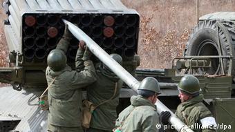 Militärübung in Russland mit einem Raketenwerfer (Foto: picture-alliance/dpa)