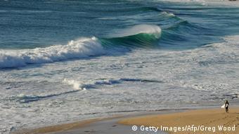 A surfer at a south Perth beach
