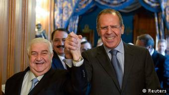 Russland Syrien Außenminister Walid al-Moualem und Sergej Lawrow in Moskau