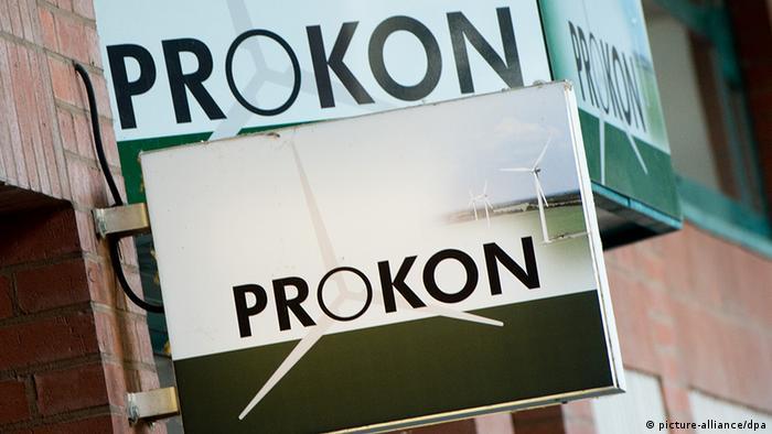 Deutschland Wirtschaft Windanlagenfinanzierer Prokon Logo